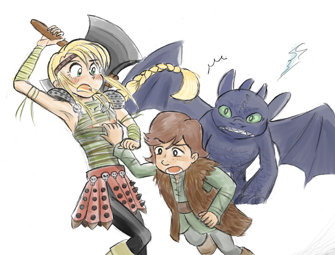 your to astrid how train dragon naked Dragon quest heroes 2 teresa