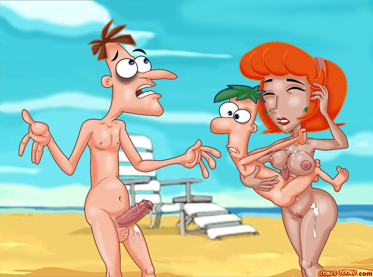 and ferb phineas nude linda Onna kyoushi yumi no houkago