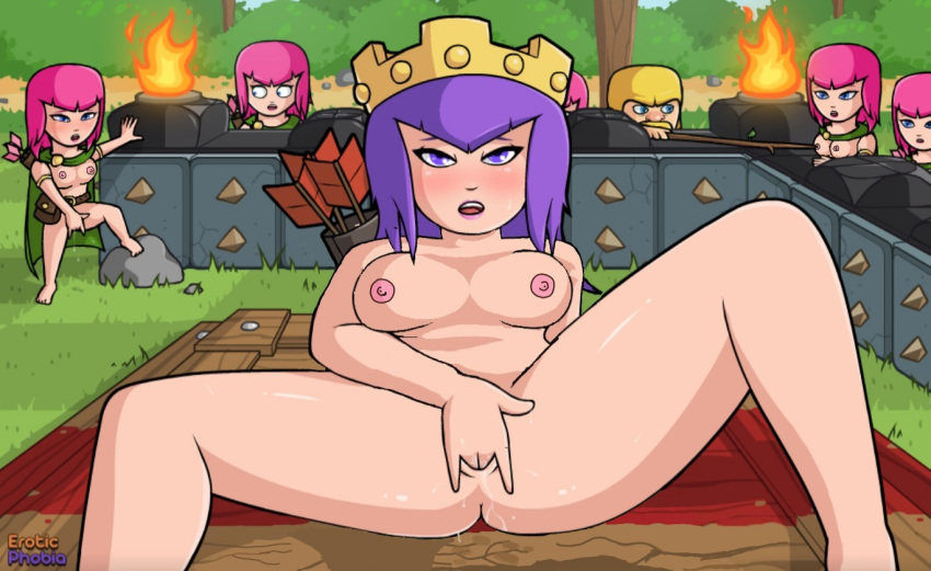clash hentai witch clans of Male frisk x female chara