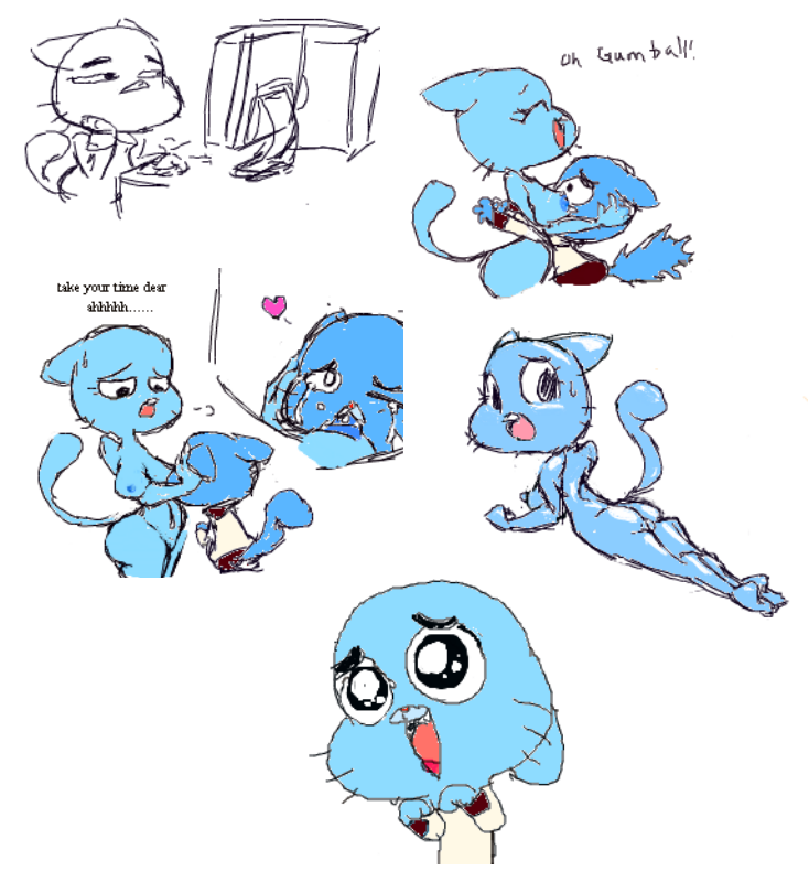 the amazing world gumball of leslie A cat is fine too meme