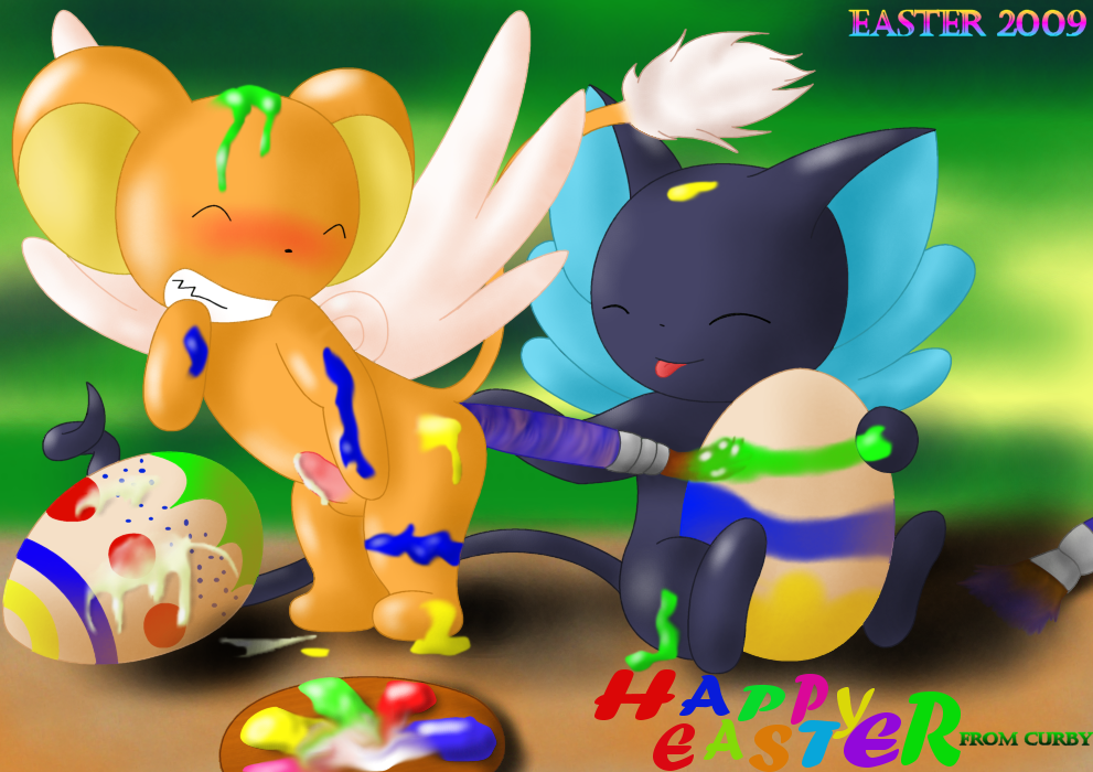 like painted eggs breasts easter Call e mighty no 9